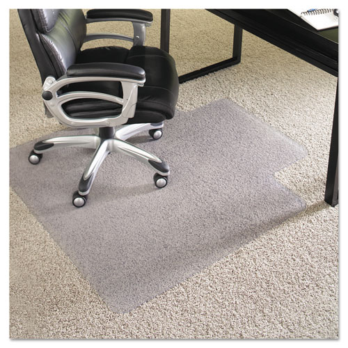 """ES Robbins® Performance Series Chair Mat with AnchorBar for Carpet up to 1"""", 36 x 48, Clear"""
