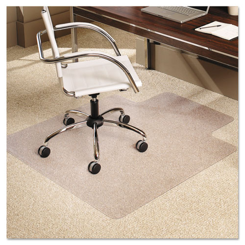 "ES Robbins® Multi-Task Series AnchorBar Chair Mat for Carpet up to 0.38"", 36 x 48, Clear"