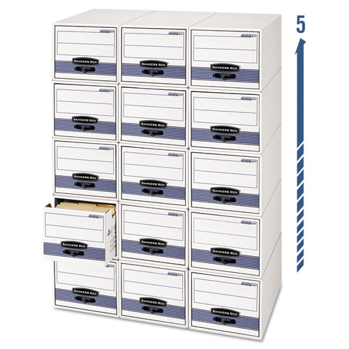 STOR/DRAWER STEEL PLUS Extra Space-Savings Storage Drawers, Letter Files, 14 x 25.5 x 11.5, White/Blue, 6/Carton