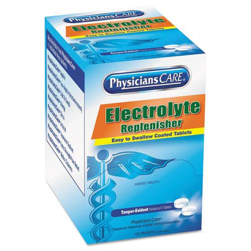 PhysiciansCare® Electrolyte Tabs, 2 Tablets/Pack, 125 Packs/Box