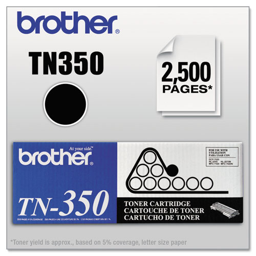 TN350 Toner, 2500 Page-Yield, Black