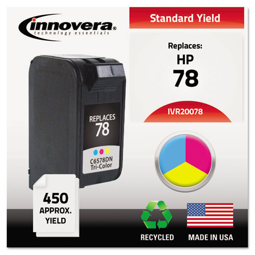 Remanufactured C6578DN (78) Ink, 450 Page-Yield, Tri-Color | by Plexsupply
