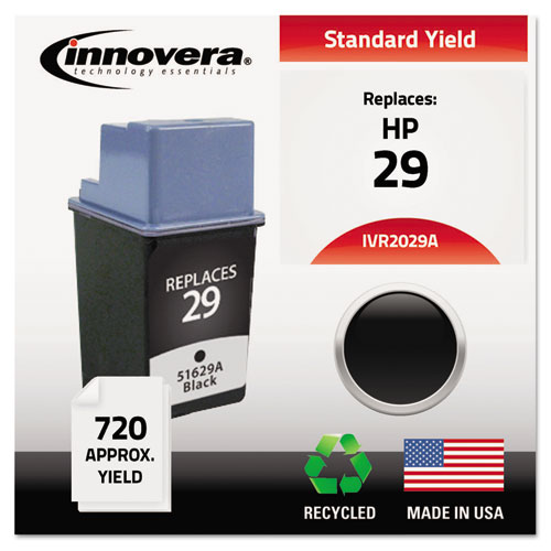 Remanufactured 51629A (29) Ink, 720 Page-Yield, Black | by Plexsupply