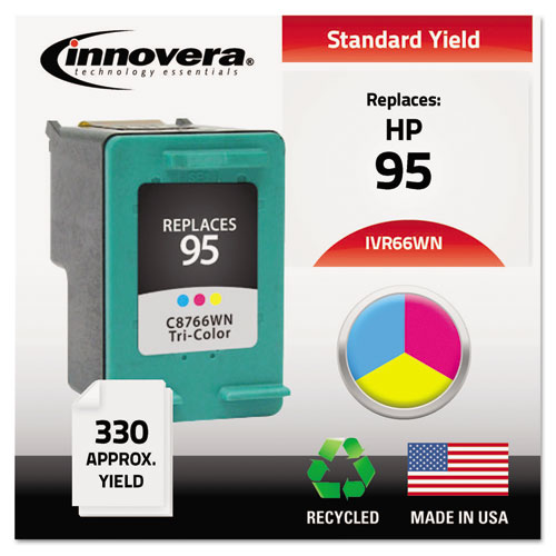 Innovera® Remanufactured C8766WN (95) Ink, 330 Page-Yield, Tri-Color