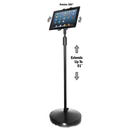 Floor Stand for iPad and Other Tablets, Black