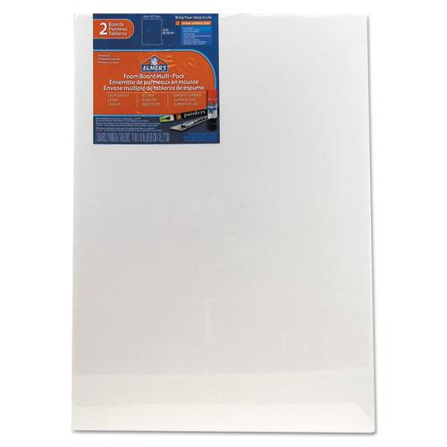 White Pre-Cut Foam Board Multi-Packs, 18 x 24, 2/PK | by Plexsupply