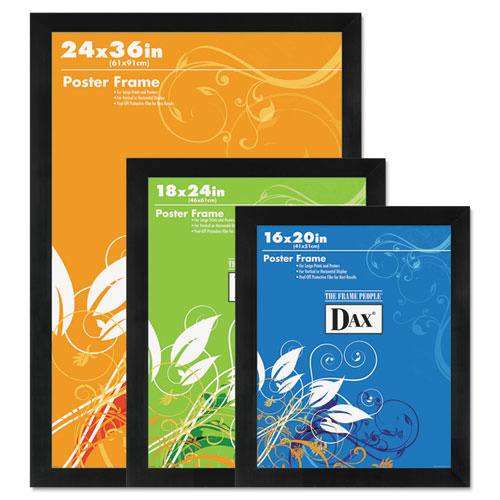 Dax Black Solid Wood Poster Frames Wplastic Window Wide Profile