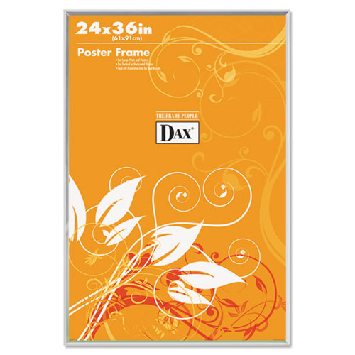 U-Channel Poster Frame, Contemporary Clear Plastic Window, 24 x 36, Clear Border