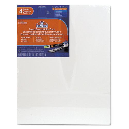 White Pre-Cut Foam Board Multi-Packs, 11 x 14, 4/PK | by Plexsupply