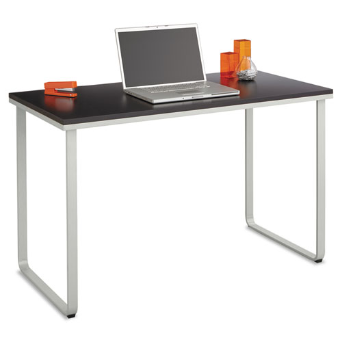 Safco® Steel Workstation, 47-1/4w x 24d x 28-3/4h, Black/Silver