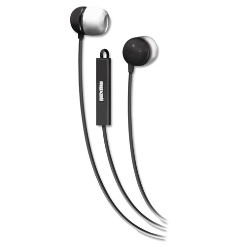 In-Ear Buds with Built-in Microphone, Black | by Plexsupply