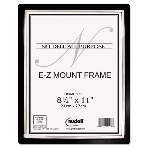 EZ Mount II Document Frame, Plastic, 8-1/2 x 11, Black/Silver ...
