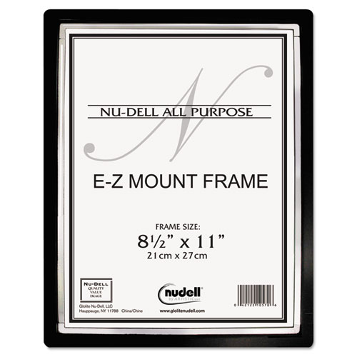 Ez Mount Ii Document Frame Plastic 8 12 X 11 Blacksilver Ram