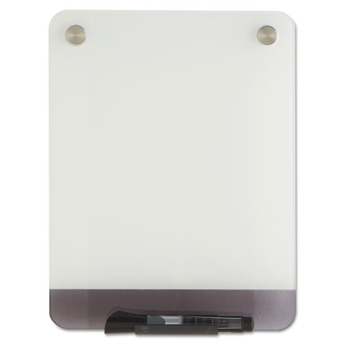 Clarity Glass Personal Dry Erase Boards, Ultra-White Backing, 9 x 12 | by Plexsupply