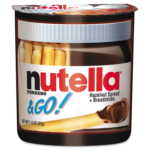 Nutella® Hazelnut Spread and Breadsticks, 1.8oz, 12/Box