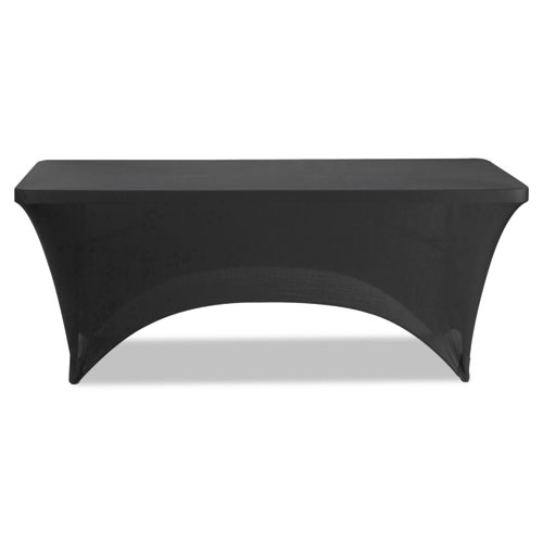 "Stretch-Fabric Table Cover, Polyester/Spandex, 30"" x 72"", Black 