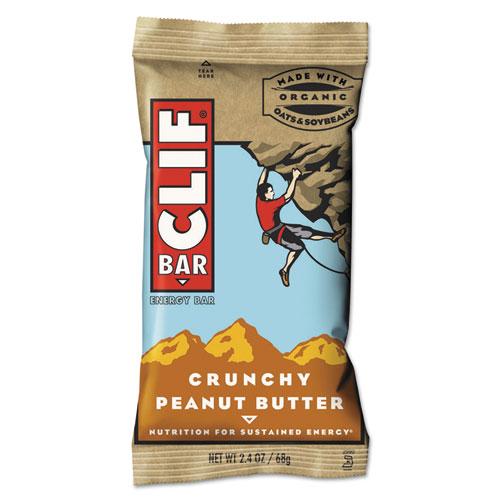 CLIF® Bar Energy Bar, Crunchy Peanut Butter, 2.4oz, 12/Box