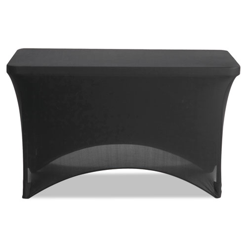"Stretch-Fabric Table Cover, Polyester/Spandex, 24"" x 48"", Black 