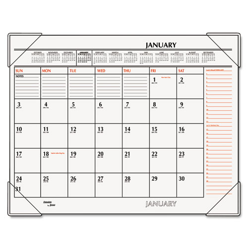 Two Color Monthly Desk Pad Calendar By At A Glance Aagsk117000