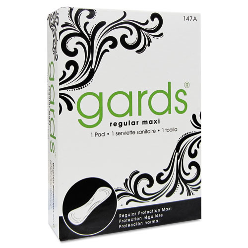 HOSPECO® Gards Vended Sanitary Napkins #4, 250 Individually Boxed Napkins/Carton