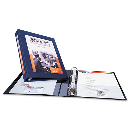 "Framed View Heavy-Duty Binders, 3 Rings, 1"" Capacity, 11 x 8.5, Black 