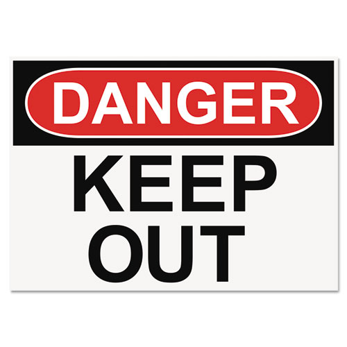 OSHA Safety Signs DANGER KEEP OUT White Red Black 10 X