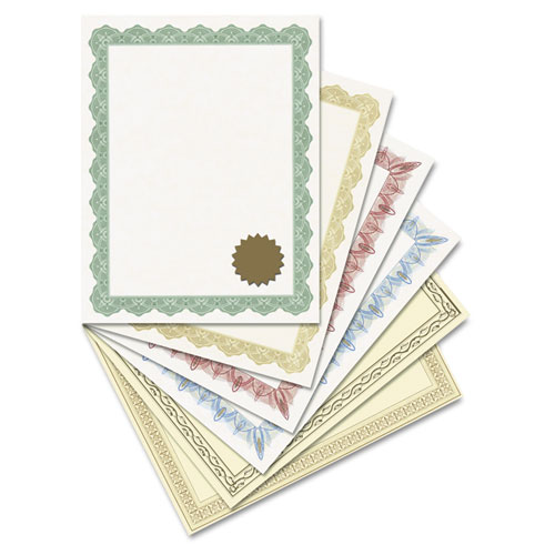 Award Certificates w//Gold Seals 25//Pack Unique Red Border 8-1//2 x 11