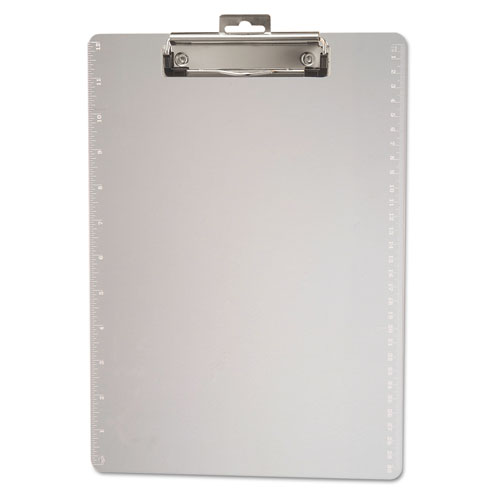 Plastic Clipboard, 1/2 Capacity, Holds 8 1/2 x 11, Clear