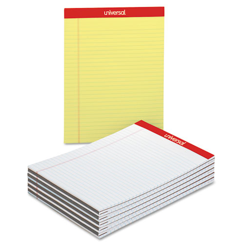 A Dozen Home Workspaces: Universal® Perforated Ruled Writing Pads, Wide/Legal Rule