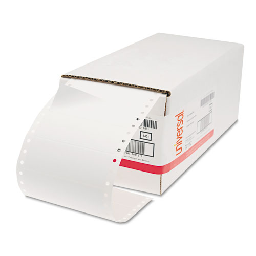 Dot Matrix Printer Labels, Dot Matrix Printers, 1.44 x 4, White, 5,000/Box