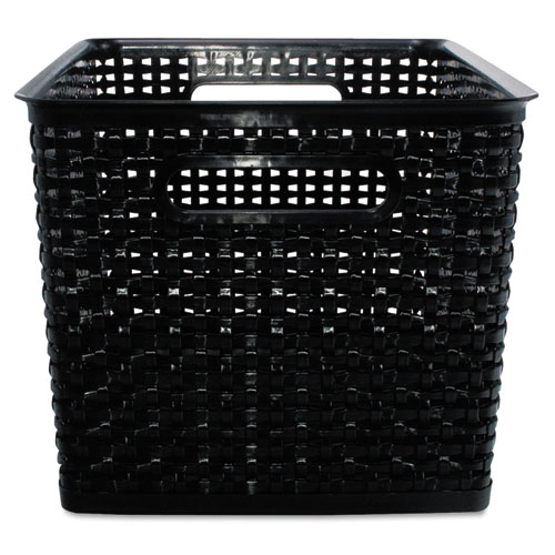"Weave Bins, 13.88"" x 10.75"" x 8.75"", Black, 2/Pack 