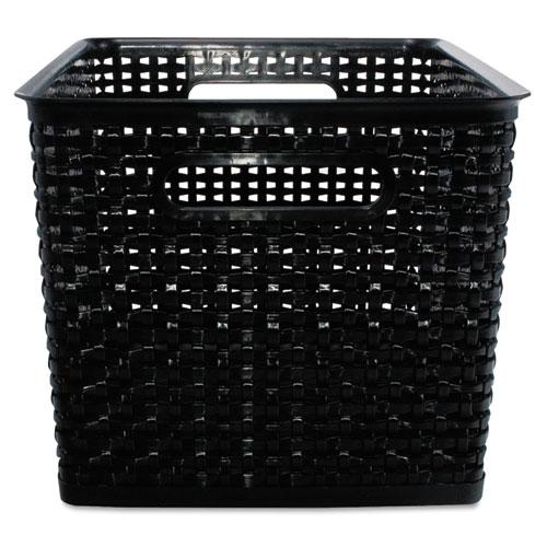 Weave Bins, 13.88 x 10.5 x 8.75, Black, 2/Pack