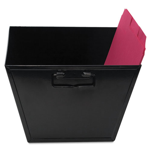 Steel File and Storage Bin, Letter Files, 12.13 x 11.25 x 7.38, Black