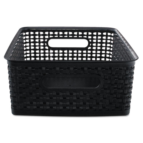 "Weave Bins, 13.88"" x 10.5"" x 4.75"", Black, 2/Pack 