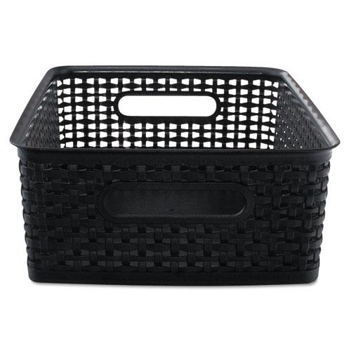 Weave Bins, 14.25 x 10.25 x 4.75, Black, 2/Pack
