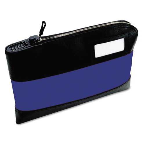 Rugged Combination Deposit Bag, 11 x 1 x 8 1/2, Nylon, Navy
