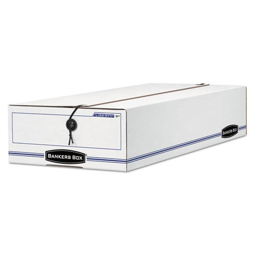 "LIBERTY Check and Form Boxes, 9.25"" x 15"" x 4.25"", White/Blue, 12/Carton 