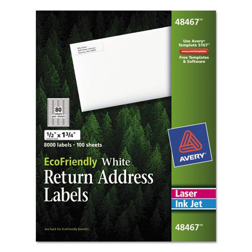 ecofriendly laser inkjet easy peel return address labels 5 x 1 75