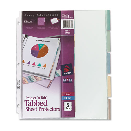 Ave74160 Avery Protect N Tab Top Load Clear Sheet