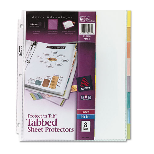 Ave74161 Avery Protect N Tab Top Load Clear Sheet