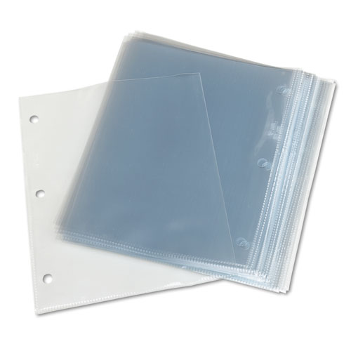 Top load poly 3 hole punched sheet protectors letter for Letter size sheet protectors