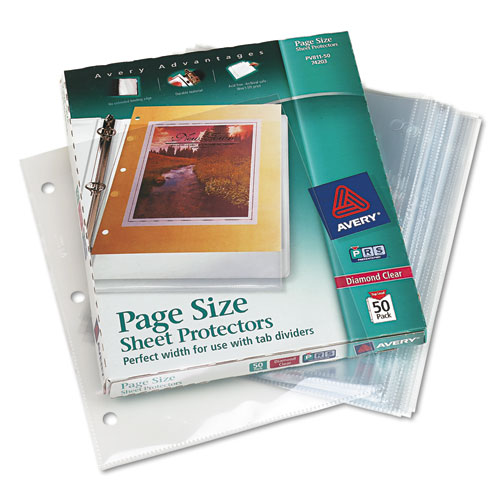 Ave74203 Avery Top Load Poly 3 Hole Punched Sheet
