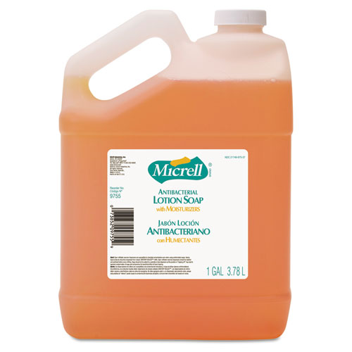Antibacterial Lotion Soap, Light Scent, Liquid, 1gal Bottle