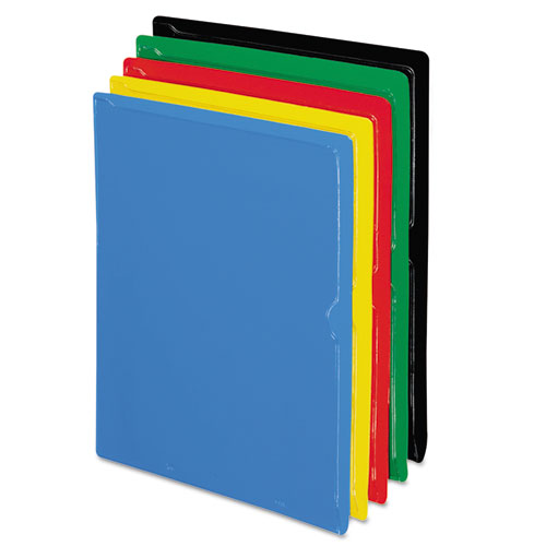 Vinyl Organizers, Letter Size, Assorted Colors, 25/Box | by Plexsupply