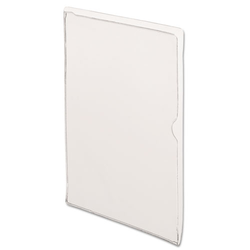 Vinyl Organizers, Letter Size, Clear, 25/Box | by Plexsupply
