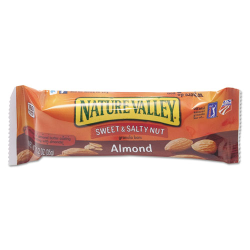 Nature Valley® Granola Bars, Sweet and Salty Nut Almond Cereal, 1.2 oz Bar, 16/Box
