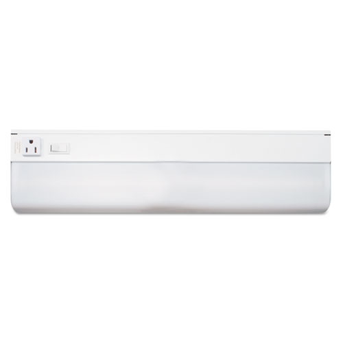 "Under-Cabinet Fluorescent Fixture, Steel, 18.25""w x 4""d x 1.63""h, White 