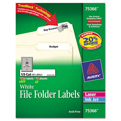 ave75366 avery permanent file folder labels zuma. Black Bedroom Furniture Sets. Home Design Ideas