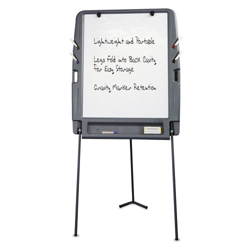 Iceberg Portable Flipchart Easel With Dry Erase Surface, Resin, 35 x 30 x 73, Charcoal