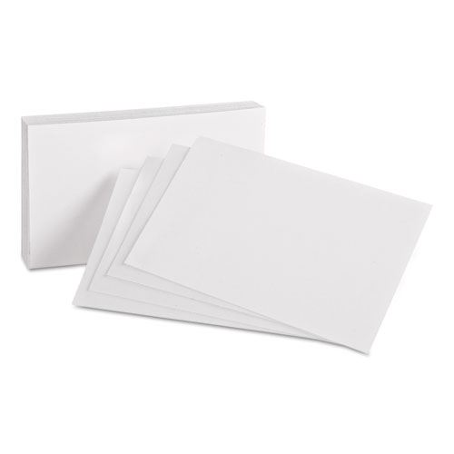 Unruled Index Cards, 4 x 6, White, 100/Pack
